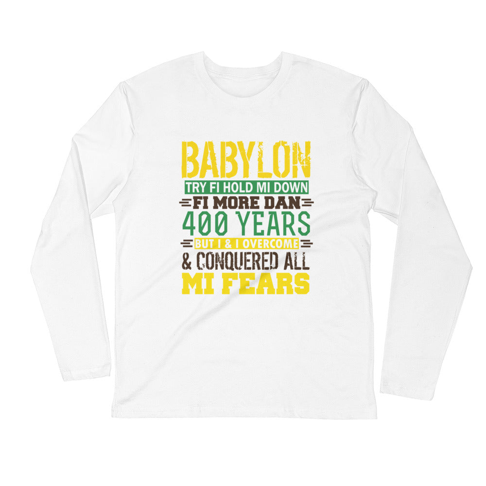 BABYLON Try...Long Sleeve Fitted Crew