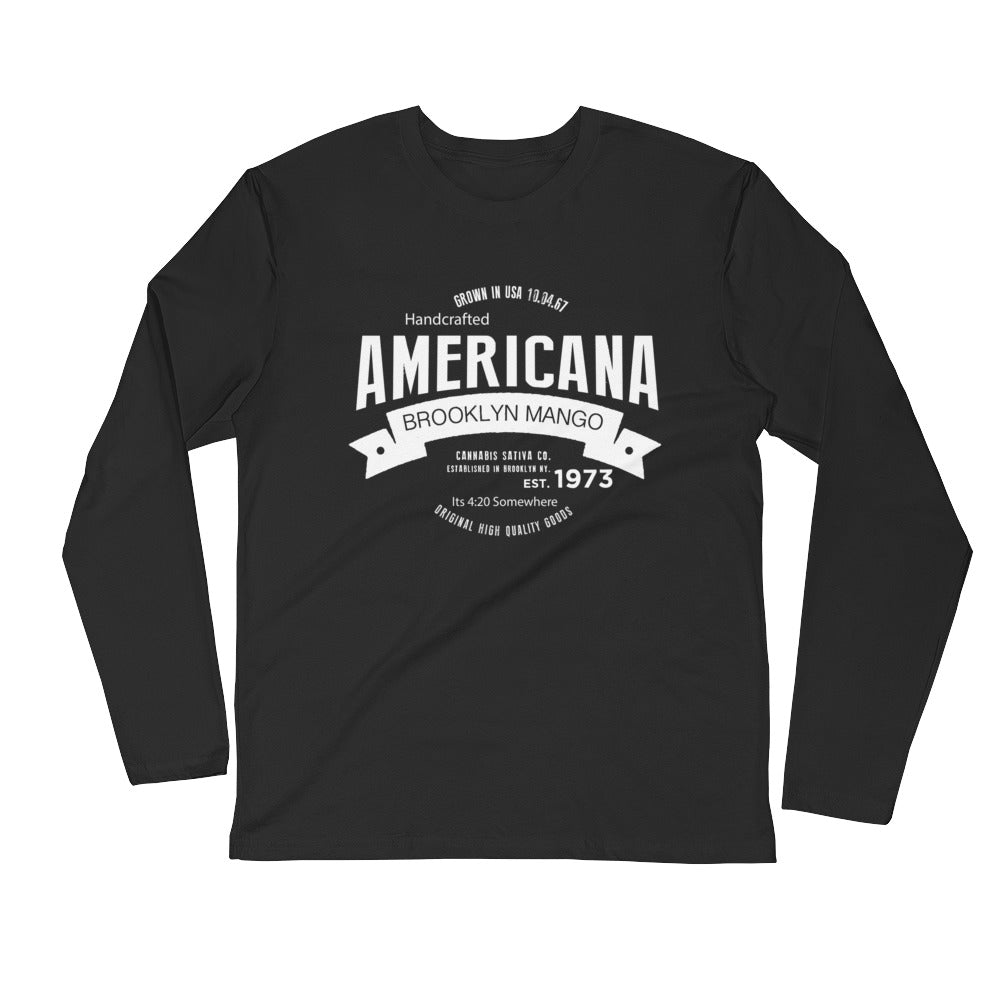 Americana...Long Sleeve Fitted Crew