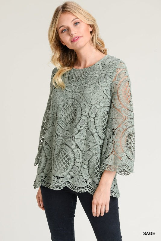 Isabella Crochet Lace Top