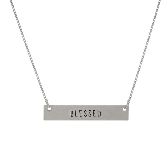 Blessed Necklace in Silver