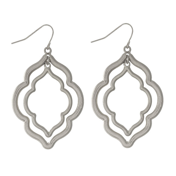 Double Moroccan Earring in Silver