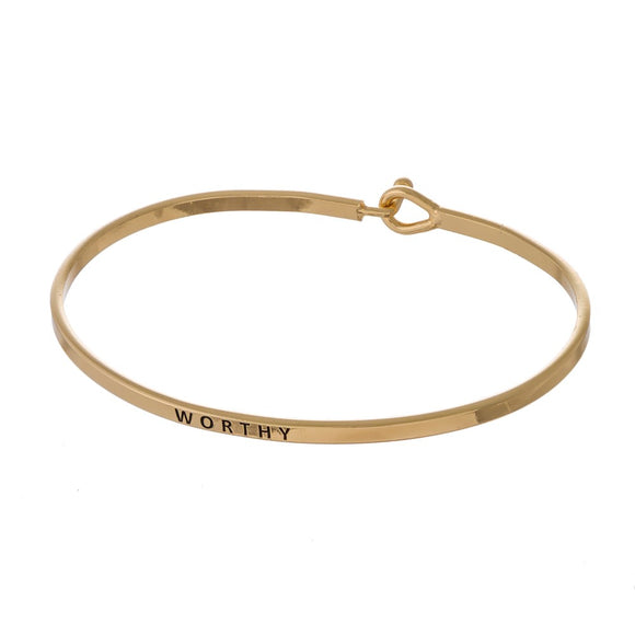 Worthy Gold Bangle Bracelet