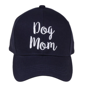 Dog Mom Navy Baseball Hat