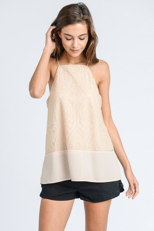 Audrey Embroidered Slip Tank