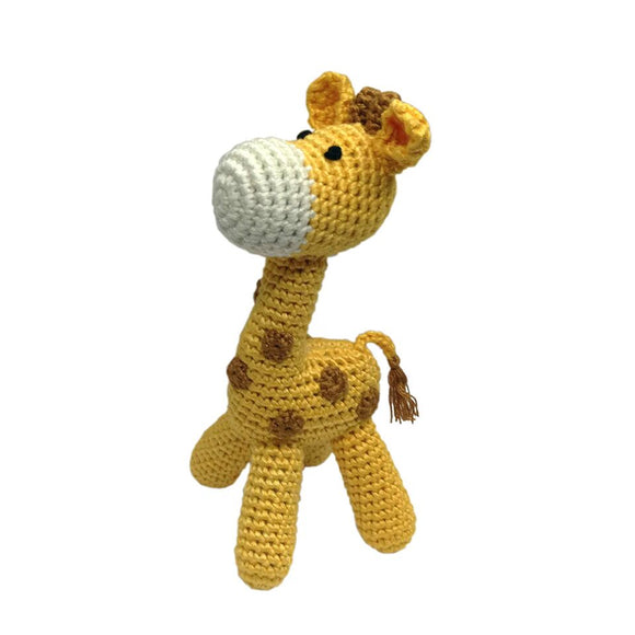 Standing Giraffe Hand-Crocheted Rattle