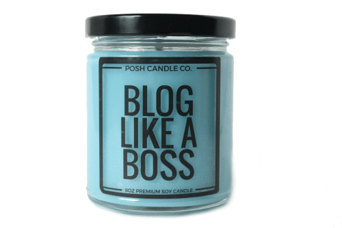 Blog Like A Boss Candle