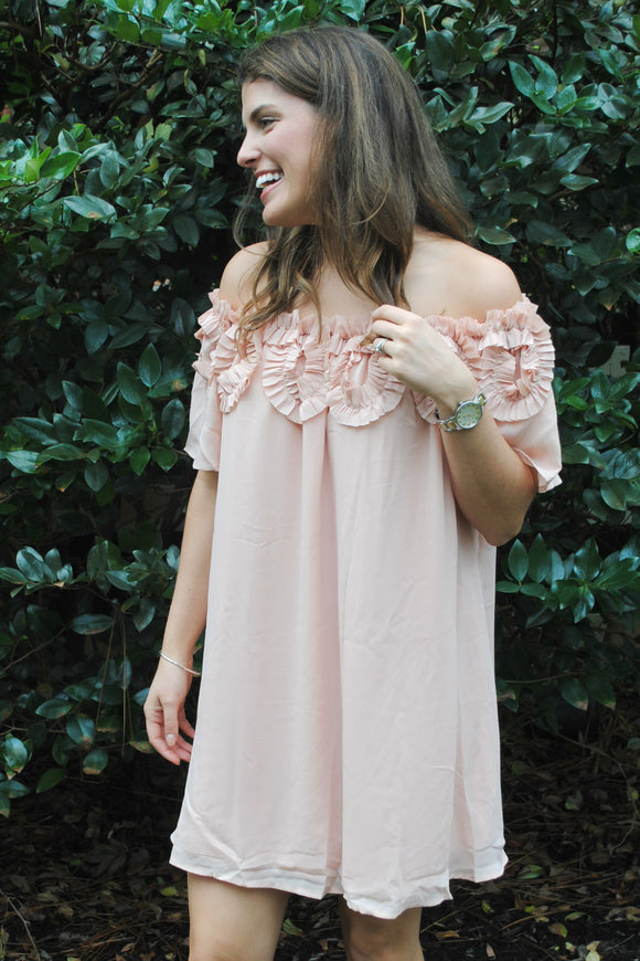 Date Night Dress in Peach