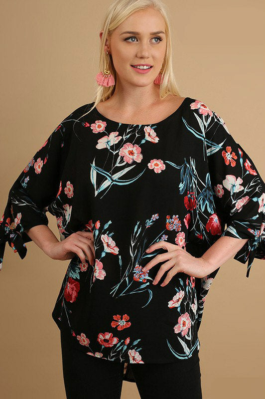 Sunset Blooms Floral Top