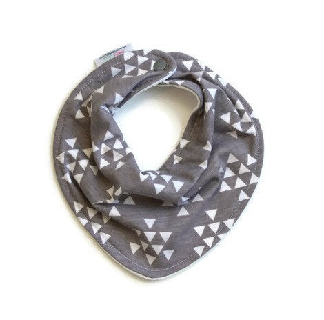 Bandana Baby Bib - Gray Arrow