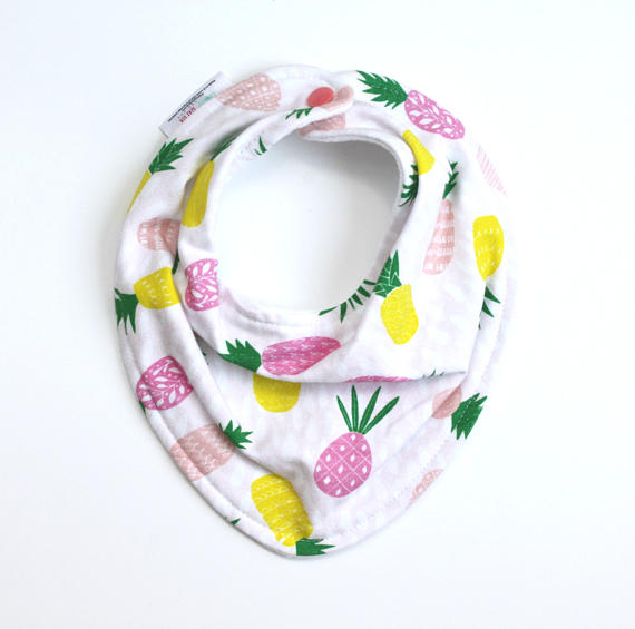 Bandana Baby Bib - Pineapples