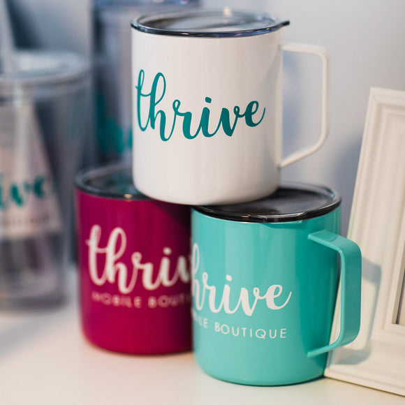 Thrive Stainless Steel Tumbler Mug