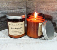 Amazing Grace  8oz. Soy Wax Candle - All Natural Soy Wax Candle - Apothecary Candle