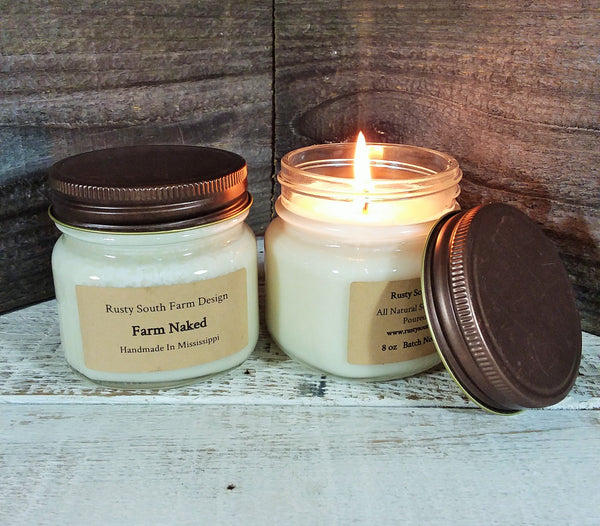 Farm Naked 8 oz. Soy Wax Candle
