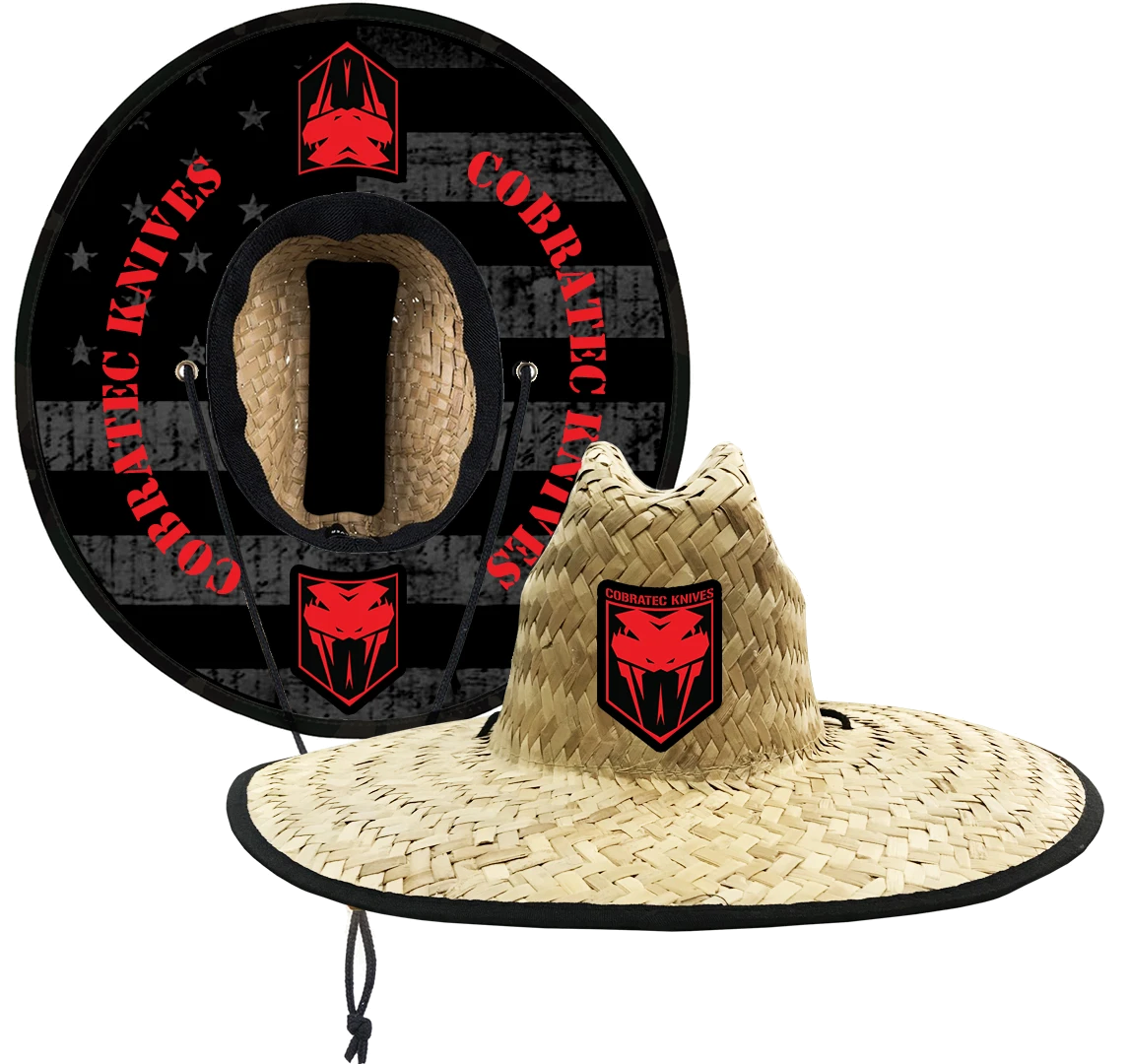 Blackout American Flag Straw Hat
