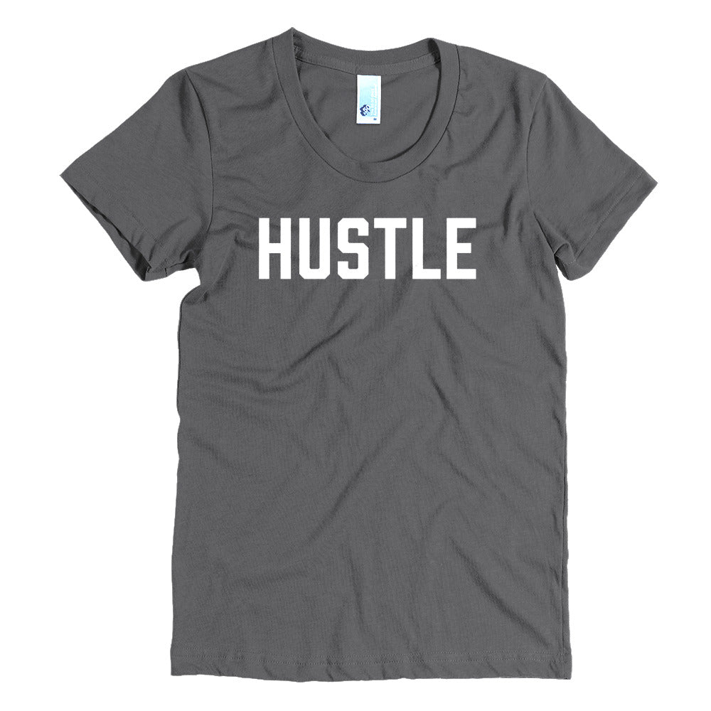Hustle - White - Women's Crew Neck Tee