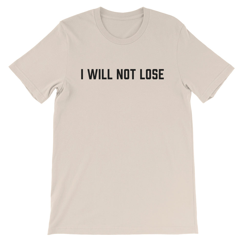 I Will Not Lose - Black - Short-Sleeve Men's T-Shirt
