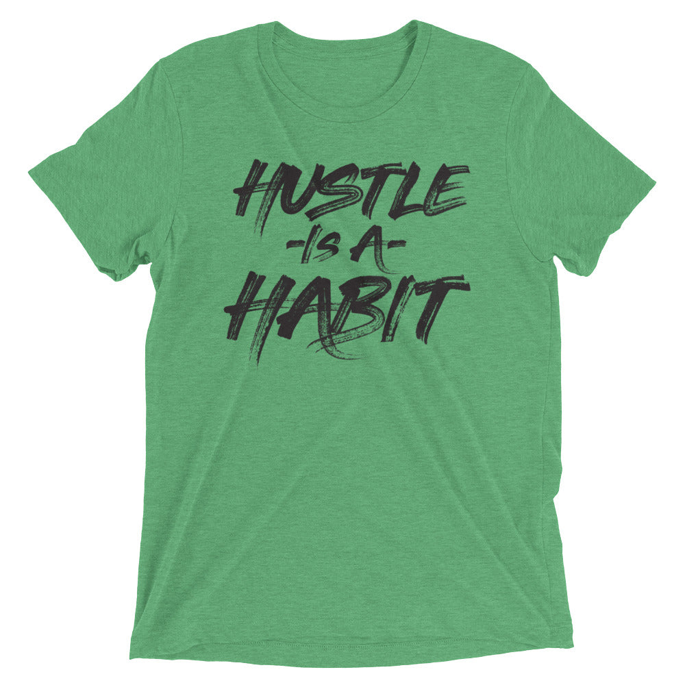HUSTLE IS A HABIT - Black - Men's Short Sleeve T-Shirt