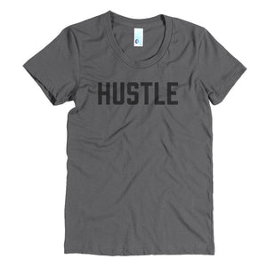 Hustle - Black - Women's Crew Neck Tee