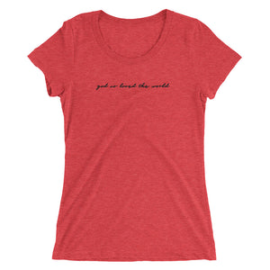 God So Loved The World - Ladies' short sleeve t-shirt
