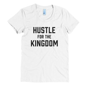Hustle for the Kingdom - Black - Women's Crew Neck Crew Neck Tee