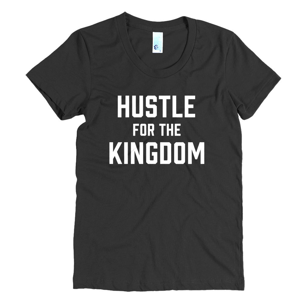 Hustle for the Kingdom - White - Women's Crew Neck Tee