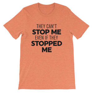 They Can't Stop Me - Black - Short-Sleeve Men's T-Shirt
