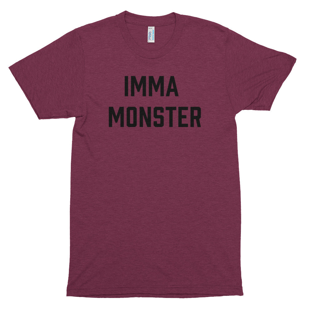 IMMA Monster - Black - Short sleeve t-shirt