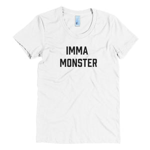 IMMA Monster - Black - Women's Crew Neck Tee