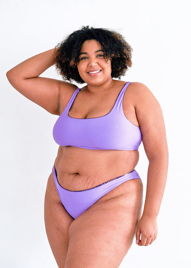 bikini-bottoms-bathing suit-swimwear-seamless-swimsuit-cheeky-low coverage-french cut-high cut leg-comfortable-reversible-evil eye-eye-print-dark-purple-light purple-lilac-lavendar-quick dry-fast dry