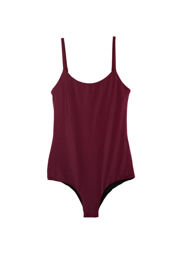 bikini-swimwear-bathing suit-seamless-comfortable-soft-reversible-quick dry-fast dry-long torso-regular torso-scarlet-solid-maroon-red-bra-built in bra-adjustable-cheeky-supportive