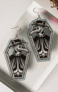 THE CURE - plague doctor earrings