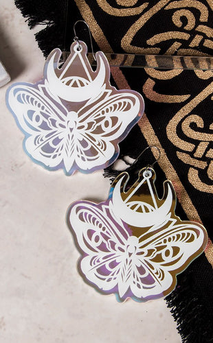 LUNA MOTH Holographic Earring Set