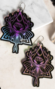 DARK TRANSFORMATION Holographic Earring Set