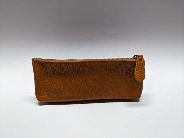 Saddle Tan Genuine Leather Pouch