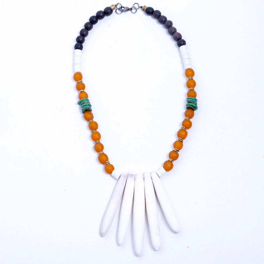 Sea Spine with Orange and Turquoise