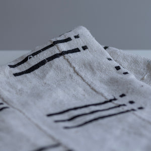 Black Stripe Mudcloth