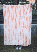 Orange Arrow Mudcloth