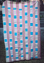 Pink and Turquoise African Blanket