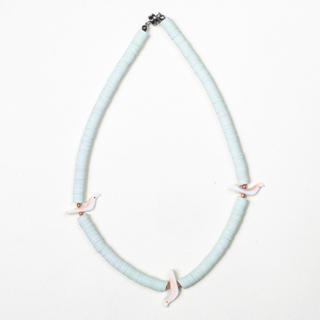 Baby Bird Necklace - Light Blue