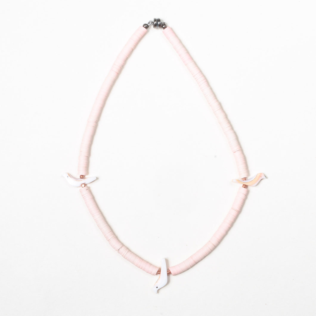 Baby Bird Necklace - light pink