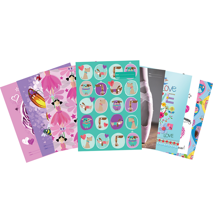 Spencil Scrapbook Jackets in assorted Girls designs