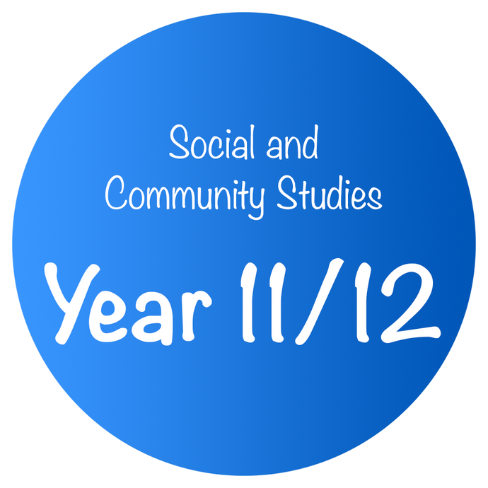 Social and Community Studies - Year 11/12