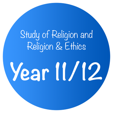Study of Religion and Religion & Ethics - Year 11/12