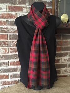 Canadian & Scottish Tartans Long Scarf Poly/Viscose