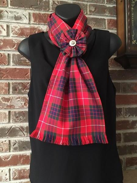Tartan Clan & Specialty Long Scarf with Rosette