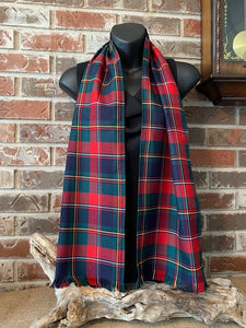 "Canadian & Scottish Tartan Poly/Viscose 60"" (150 cm) Scarf"