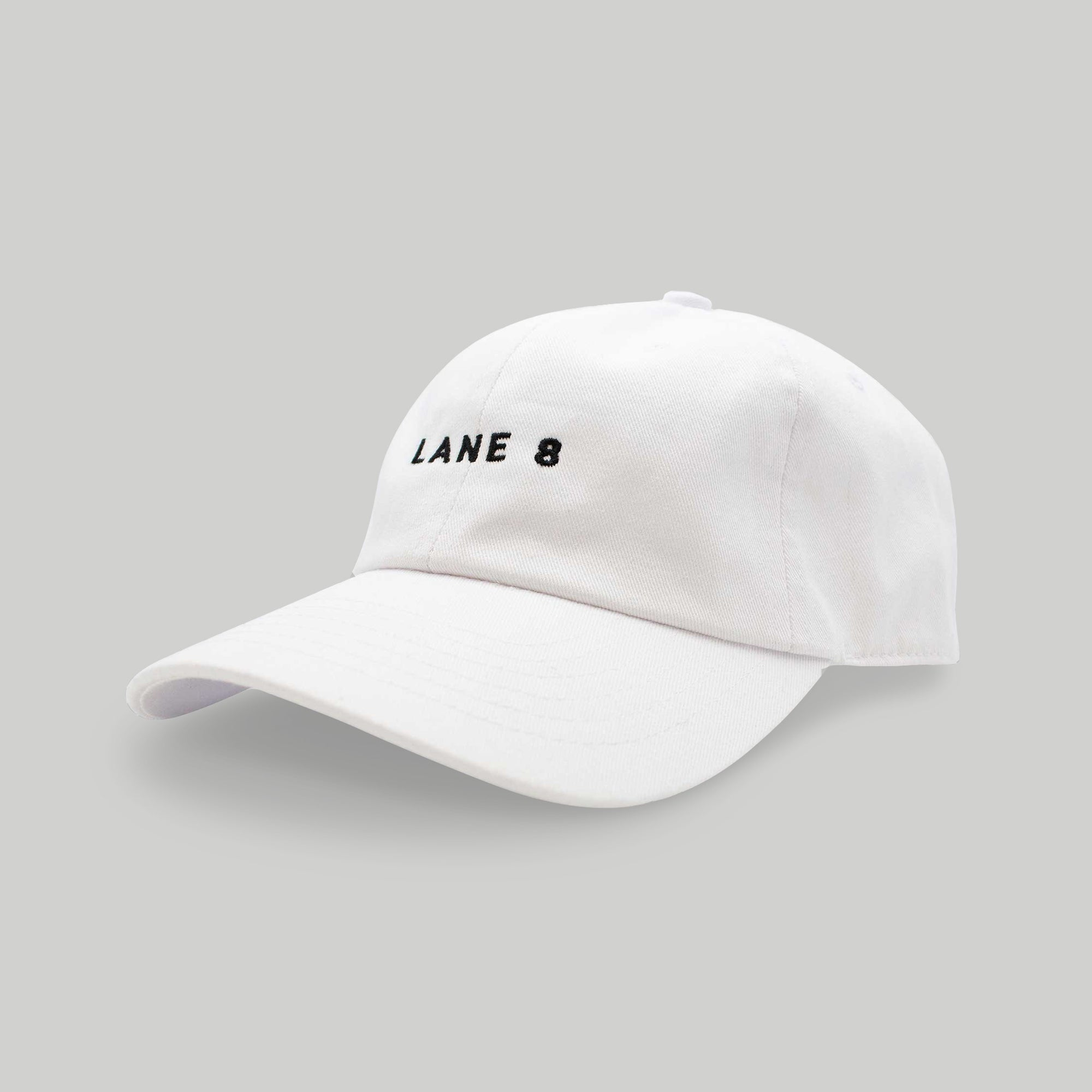 Lane 8 Dad Hat - White