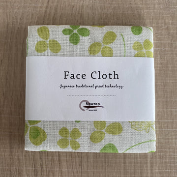 Floral Face Cloth - Green