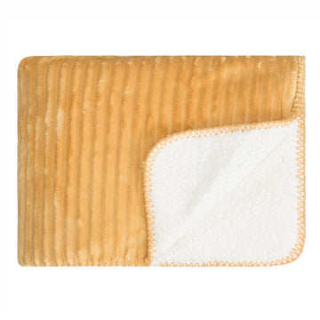 Ribbed Sherpa Blanket - Gold