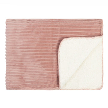 pink sherpa throw Kerridge ribbed